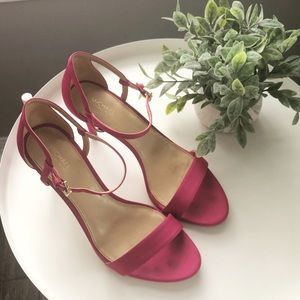 Michael Kors Simone Sandal Hot Pink Heels Size 9